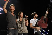 Lady Antebellum perform at the Nightly Concerts at LP Field on Friday, June 10 in Downtown Nashville during the 2011 CMA Music Festival.